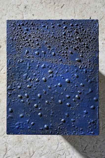 """, '""""Bleu"""" wall sculpture,' 1974, Magen H Gallery"""