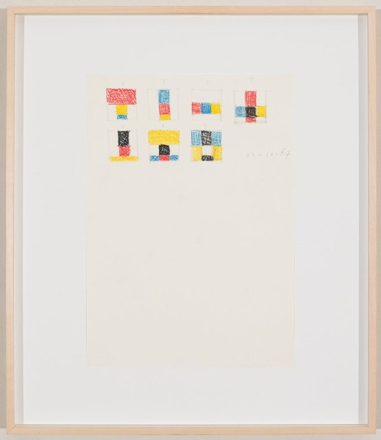 Max Bill, 'Komposition, 16.2.69', 1969, Drawing, Collage or other Work on Paper, Pencil and coloured pencil on paper, Galerie Knoell, Basel