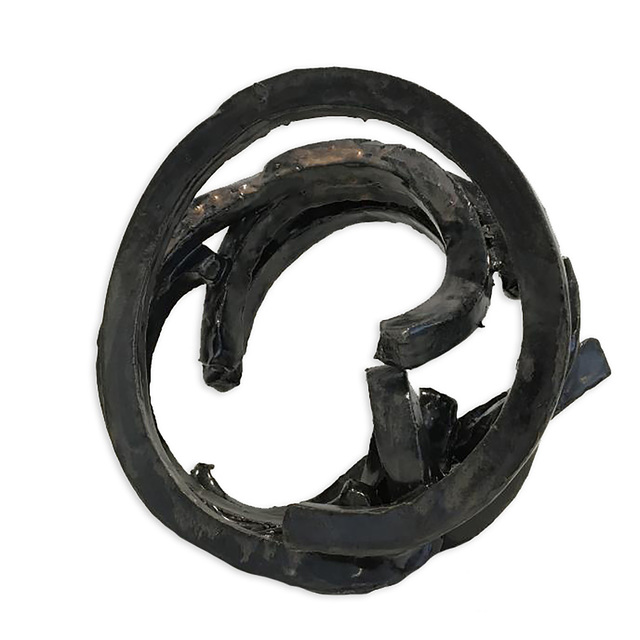 , 'BRONZE HOOP,' , Exhibit by Aberson