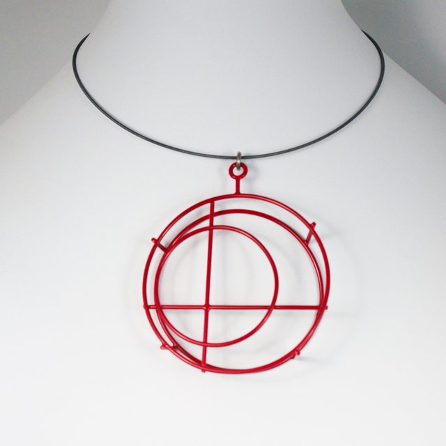 , 'Large Red Circle, Necklace,' 2012, The Gallery at Reinstein|Ross