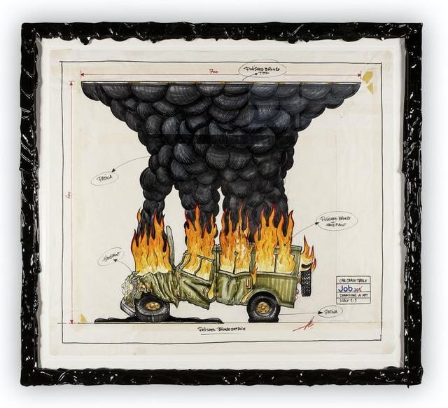 , 'Car Crash Drawing,' 2016, Chamber