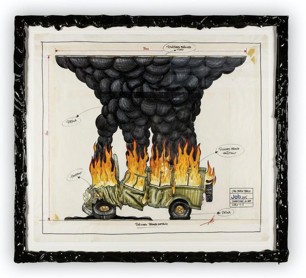 Studio Job | Car Crash Drawing (2016) | Available for Sale | Artsy