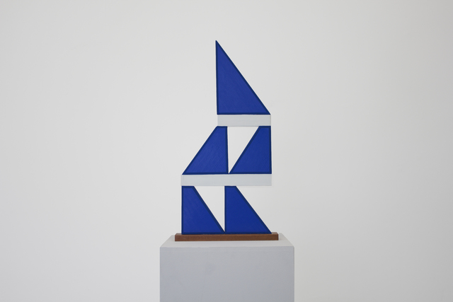 , 'Untitled (blue triangle stack),' 2016, Ochi Projects