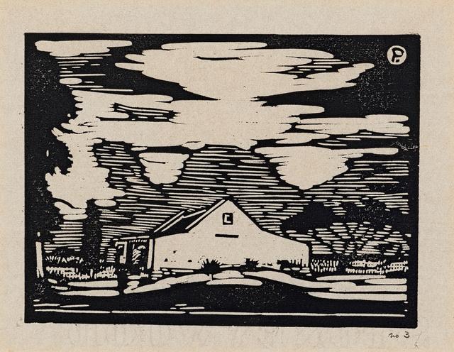 Jacob Hendrik Pierneef, 'Plaashuis, Onderstepoort (Nilant 45)', Print, Linocut, Strauss & Co