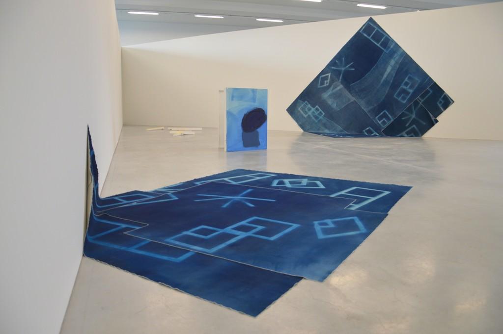 Jessica Warboys. Cyanotype Motion Mesh en Boxpainting, 2014 (c) M - Museum Leuven