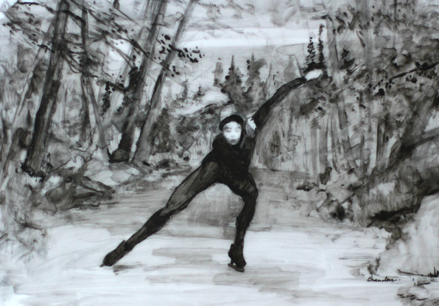 , 'Night Speedskating,' , Abend Gallery