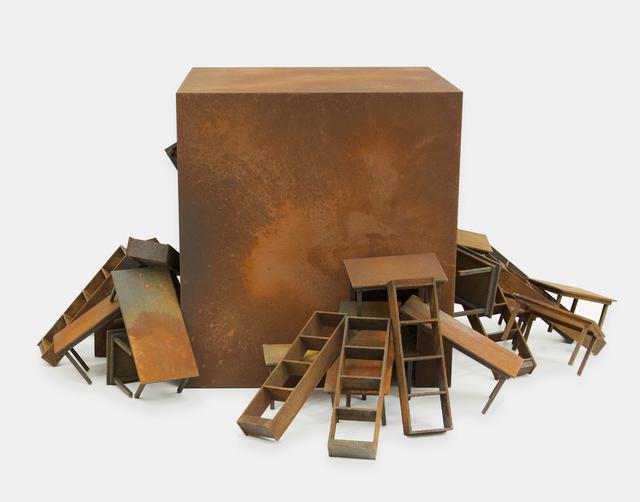 José Bechara, 'Preta', 2006, Sculpture, Oxidation of ferrous material in MDF, LURIXS: Arte Contemporânea