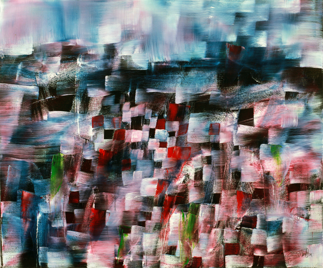 Harry Guttman, 'Under Water City', 2011, Painting, Acrylic On Canvas, Blue Gallery