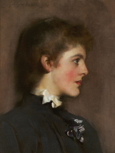 , 'Portrait of a Young Woman,' ca. 1889, Debra Force Fine Art