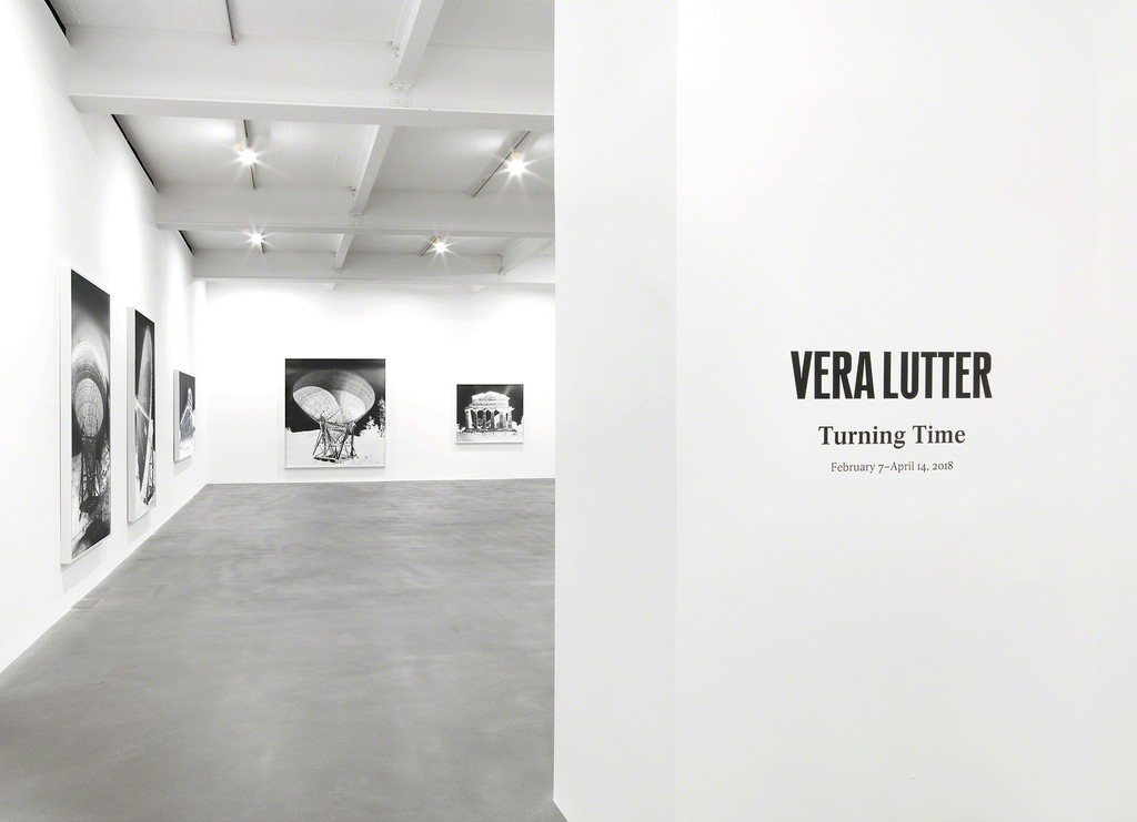 "Installation view, ""Vera Lutter: Turning Time"" at Gagosian Britannia Street, London. Artworks © Vera Lutter. Photo by Mike Bruce. Courtesy Gagosian."