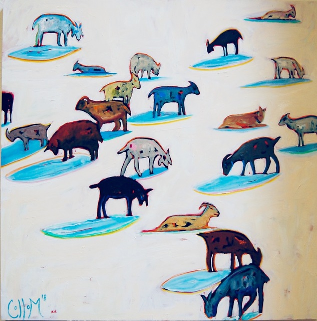 , 'Hillside Goats ,' 2018, Tim Collom Gallery