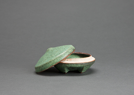 , 'Round covered box, copper green glaze,' , Pucker Gallery
