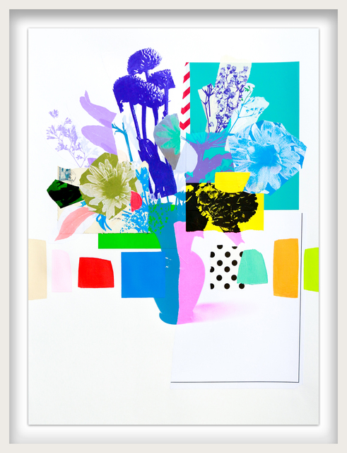 Emily Filler, 'Paper Bouquet (pink vase + purple vase)', ca. 2021, Drawing, Collage or other Work on Paper, Mixed Media on Paper, Newzones
