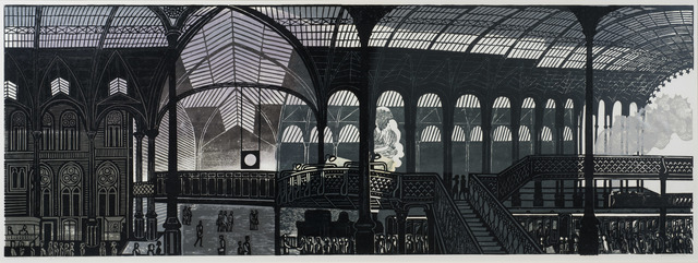 , 'Liverpool Street Station,' 1961, Osborne Samuel