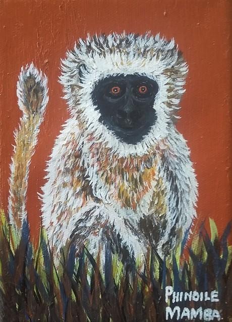 Phindile Mamba, 'My friend the monkey', 2019, Yebo Art Gallery