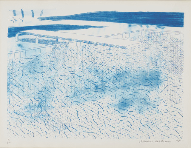 David Hockney, 'Lithograph of Water Made of Lines', 1978, Christie's