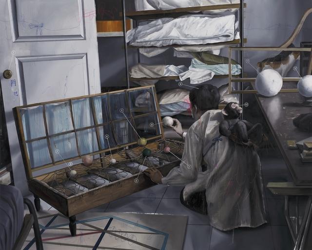 Shih Yung Chun, 'Ornamental Fixture Shop. D - Bird Pitching Device in Broken Sofa', 2017, Yiri Arts