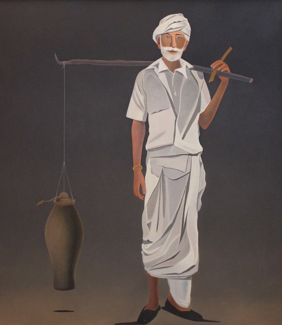 Surendran Nair, 'Dhanavantari', 2013, Painting, Oil on canvas, Aicon Gallery