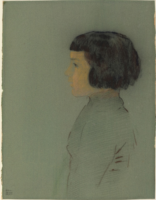 Odilon Redon, 'Young Woman in Profile', 1910, National Gallery of Art, Washington, D.C.