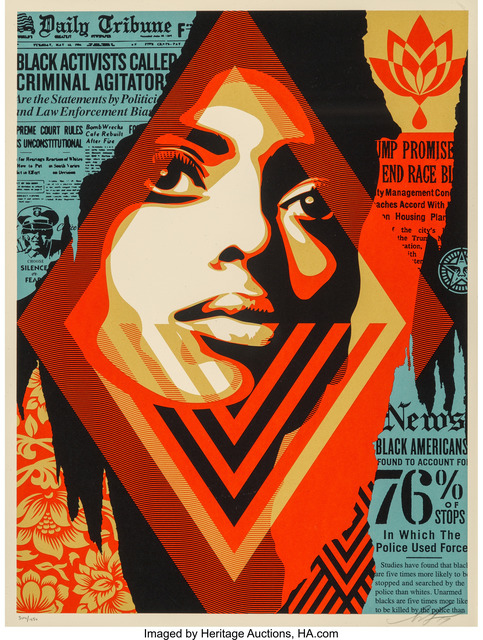 Shepard Fairey (OBEY), 'Bias by Numbers', 2017, Heritage Auctions