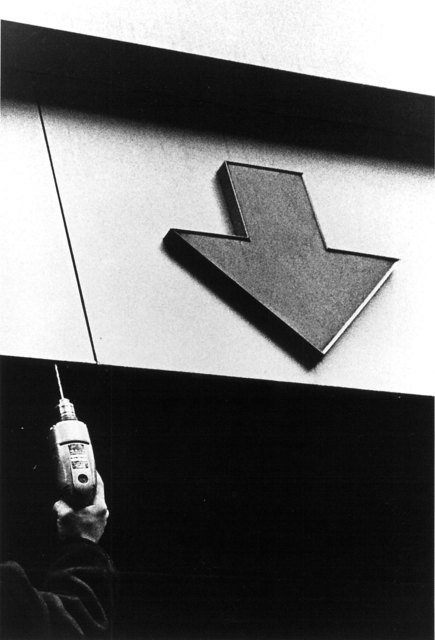 , 'Untitled (building exterior with arrow pointing down),' 1968, Elizabeth Houston Gallery