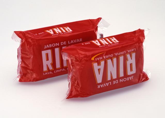 """, 'Rina, Jabon De Lavar, """"Lava, Limpia, Dura Mas"""", 200 gr., Douglas M. Parker,' 2004, Mai 36 Galerie"""
