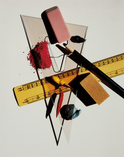 Irving Penn, 'Still Life with Triangle and Red Eraser, New York', January 23-1985, Phillips