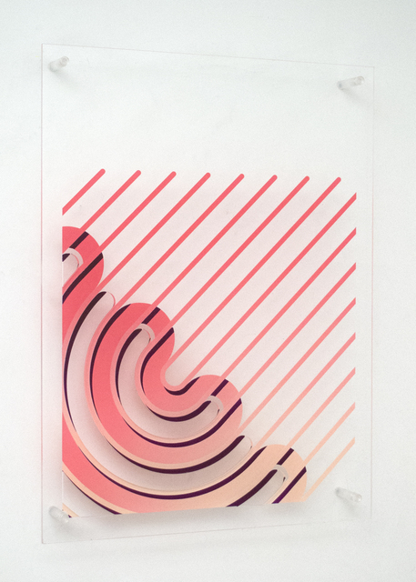 , '(untitled - rounded annular sectors with removed parts #2),' 2018, Galleri Urbane