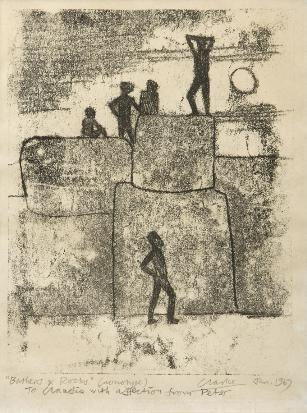 , 'Bathers & Rocks,' 1967, Luvey 'n Rose