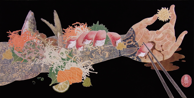 , 'Nourish V (Sashimi On The Arm),' 2016, JanKossen Contemporary