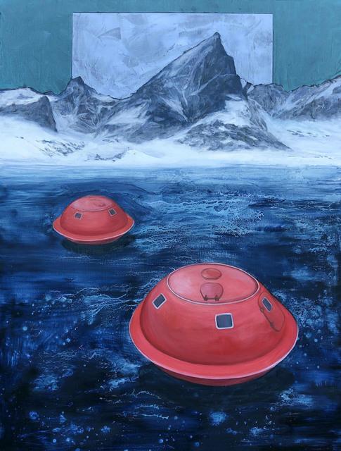 Aleksandar Popovic, 'Escape Capsule V', 2020, Painting, Oil and wax on linen, Mizuma & Kips