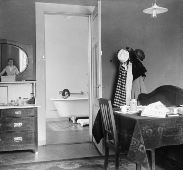 , 'Bibi et moi dans le reflet du miroir pendant notre voyage de noces, Chamonix,' 1920, °CLAIR Galerie