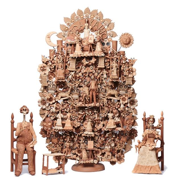 , 'Arbol Frida Kahlo y Diego Rivera Ceramics Mexican Folk Art Clay Tree of Life,' 2017, Cactus Fine Art