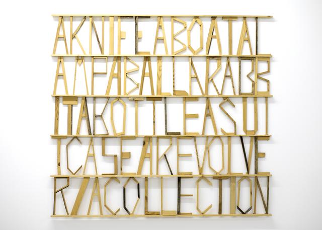 , 'Words 20,' 2012, Galerie Bart
