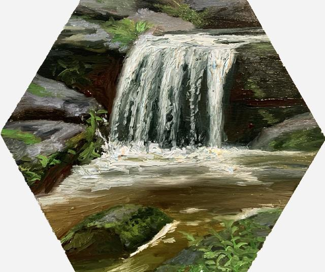 Julianna Wells, 'Small creek study', 2020, Painting, Oil on panel, Sugarlift
