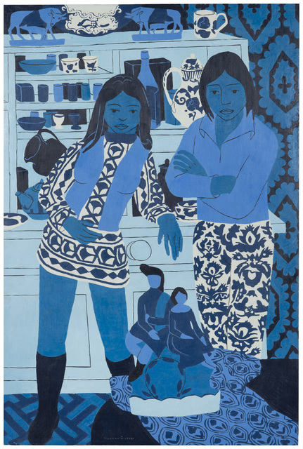 , 'Blue and White Figures,' 1973, Tatha Gallery