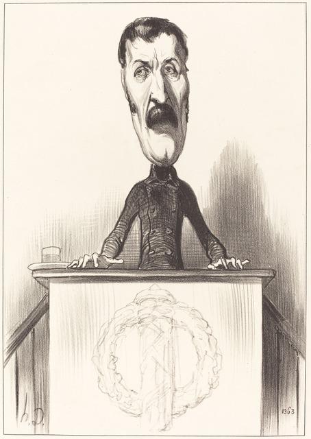 Honoré Daumier, 'Jules Bastide', 1849, National Gallery of Art, Washington, D.C.