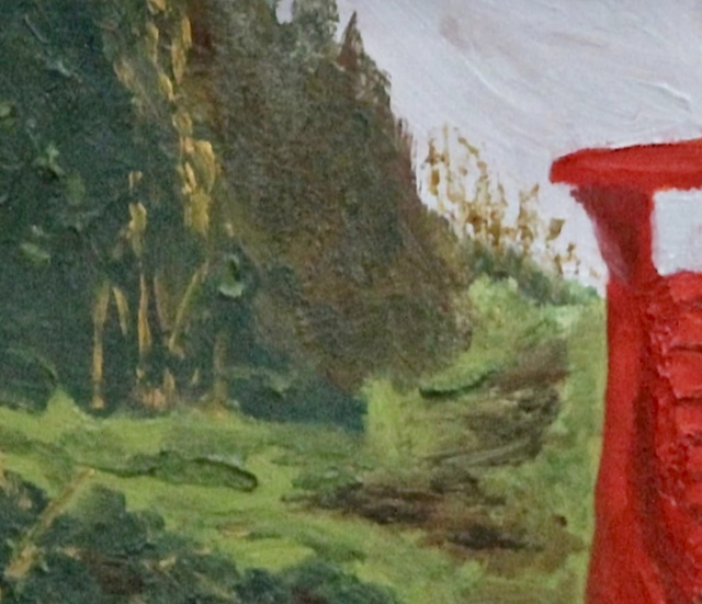 Glenda King, 'The Red Chair', 2020, Painting, Oil on Canvas, Terrill Welch Gallery