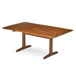 Trestle dining table with three-plank top, New Hope, PA