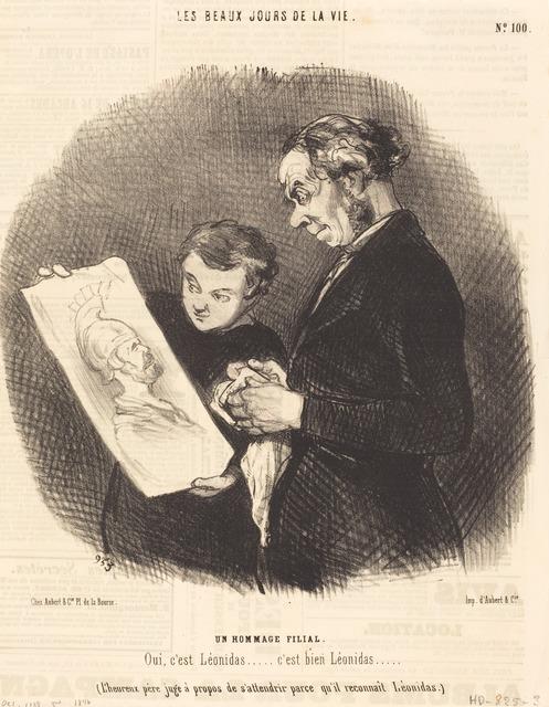 Honoré Daumier, 'Un Hommage filial', 1846, National Gallery of Art, Washington, D.C.