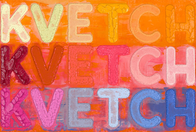 Mel Bochner, 'Kvetch', 2020, Print, Monoprint with collage, engraving and embossment on hand-dyed Twinrocker handmade paper, Two Palms