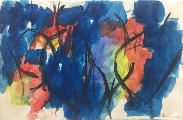 Alma Thomas, 'Untitled (Blue, black, red, yellow green and violet)', Undated , Hemphill Fine Arts