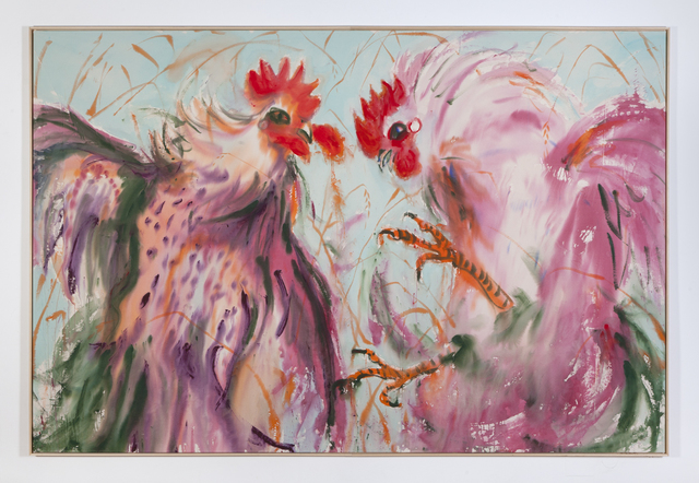 , 'Two roosters in the fields,' 2018, DSC Gallery