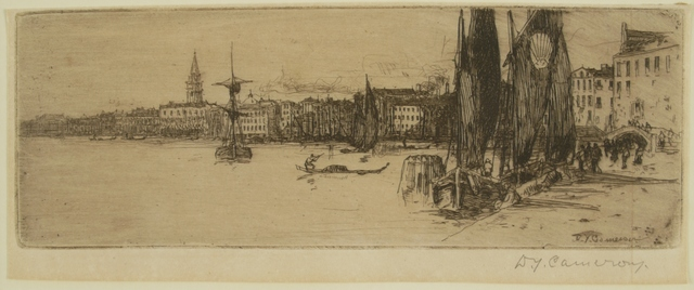 Sir David Young Cameron, 'Bacino, Venice', ca. 1900, Private Collection, NY