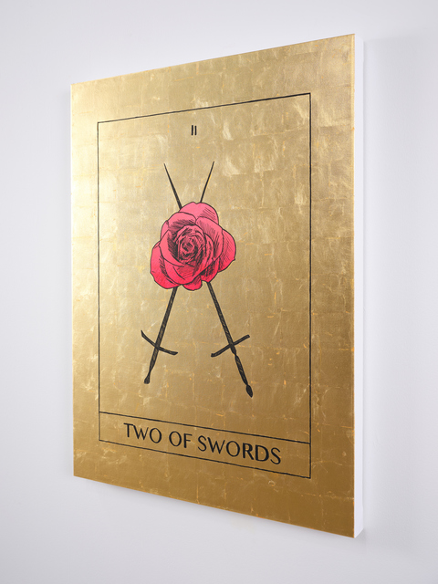 Mieke Marple, 'Two of Swords (Choices)', 2020, Painting, 24K gold and acrylic on canvas, Ever Gold [Projects]