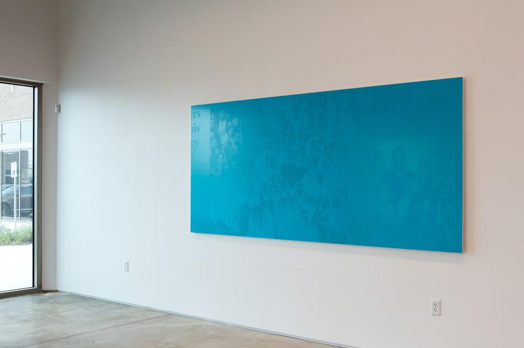 Emmanuel Van der Auwera, Memento (Farewell, Blue), installation view, 2019