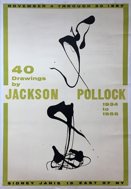 Jackson Pollock, '40 Drawings by Jackson Pollock, 1934-1956, Sidney Janis Gallery, New York', 1957, Alpha 137 Gallery