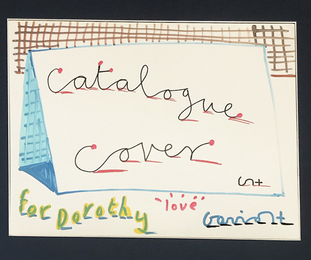, 'Catalogue Cover, hand-drawn drawing by David Hockney in felt pen,' 1990, Mr & Mrs Clark's