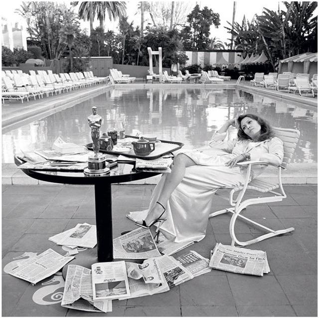 Terry O'Neill, 'Faye Dunaway, Oscar Shoot (B&W)', 1977, Mouche Gallery