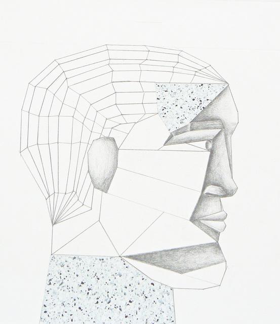 , 'Head (floor plan) study, figure plate,' 2011-2012, Rhona Hoffman Gallery